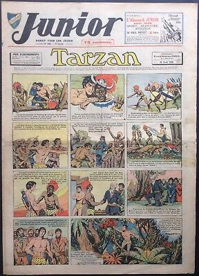 JUNIOR the Journal of Tarzan issue n°126 du 25 august 1938 Good condition
