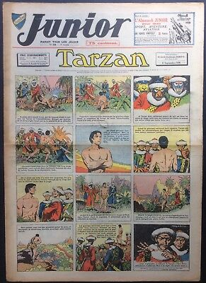 JUNIOR the Journal of Tarzan issue n°129 du 15 september 1938 Condition correct