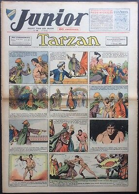 JUNIOR the Journal of Tarzan issue n°149 du 2 february 1939 Good condition