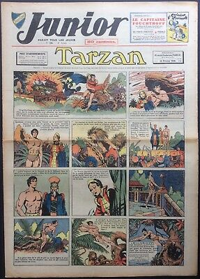 JUNIOR the Journal of Tarzan issue n°151 du 16 february 1939 Good condition