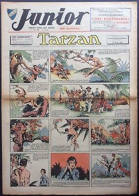JUNIOR the Journal of Tarzan issue n°157 du 30 mars 1939 Condition correct