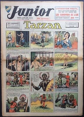 JUNIOR the Journal of Tarzan issue n°162 du 4 may 1939 Condition correct