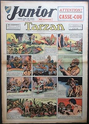 JUNIOR the Journal of Tarzan issue n°169 du 22 june 1939 Condition correct