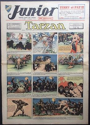JUNIOR the Journal of Tarzan issue n°167 du 8 june 1939 Good condition