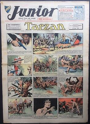 JUNIOR the Journal of Tarzan issue n°170 du 29 june 1939 Condition correct