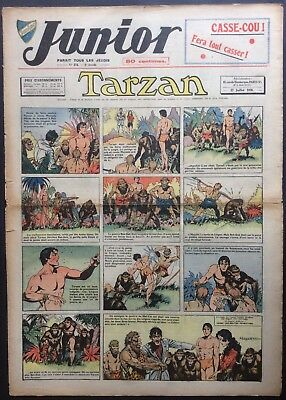 JUNIOR the Journal of Tarzan issue n°174 du 27 juillet 1939 Condition correct