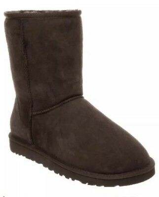 UGG Australia Girls Boots - Classic Short Dark Brown UK Kids 1 BNIB