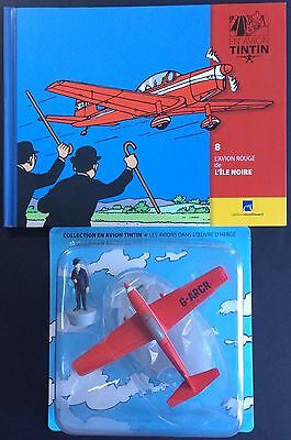 TINTIN by plane n°8 The plane red The island Black Mint