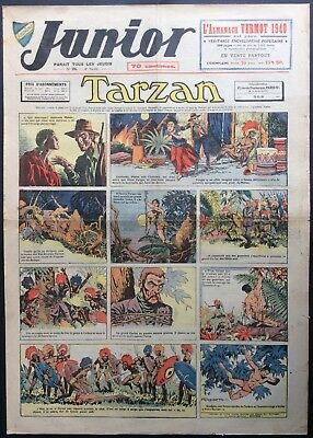 JUNIOR the Journal of Tarzan issue n°195 du 21 december 1939 Condition correct