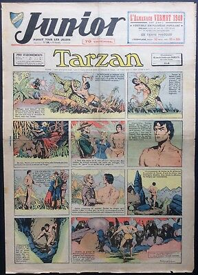 JUNIOR the Journal of Tarzan issue n°198 du 11 janvier 1940 Condition correct