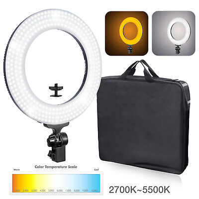"""Lusana 14"""" Dimmable LED Ring Light Photography Studio Continuous Lighting Kit"""
