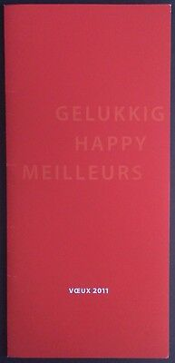 TINTIN Studios Hergé Greeting card 2011 Signed F. and N. Rodwell