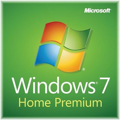 Microsoft Windows 7 Home Premium 32 64 Bit Full Version SP1 + Product Key