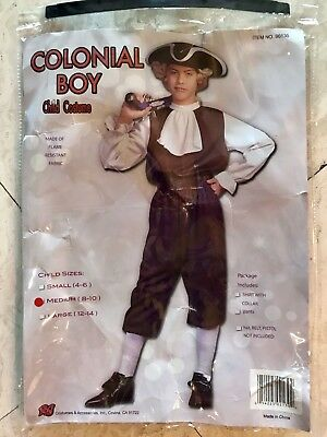 Colonial Boy Child Costume Size Medium 8-10 Revolutionary War Pilgram #90130