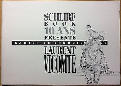 VICOMTE Specifications of sketches no.5 10 year Schlirf Book 1988 HC n & s Mint