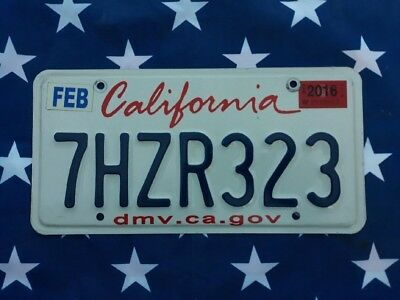 Plaque d'immatriculation California 7HZR323 Us Usa license plate