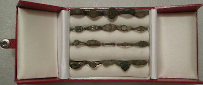 20 Ancient Roman Children's Rings. Including One Silver, Two Signet Seal Rings.