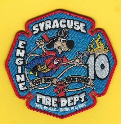 """Syracuse Fire Dept Engine 10 Company Patch ~ New York ~ """"East Side Underdogs"""""""