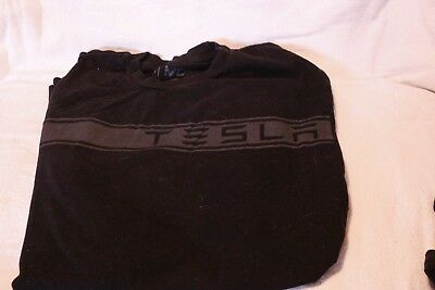 Tesla Logo Mens M Teamwear Car Vehicle Black Rare New Elon T Shirt Model X S 3 !
