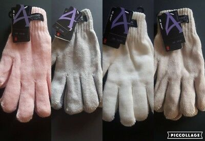 Ladies Mens Thermal THINSULATE Winter Gloves Knitted Wooly 3M Colour UK NEW