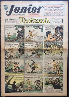 JUNIOR the Journal of Tarzan issue n°93 du 6 janvier 1938 Condition correct
