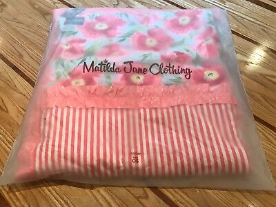 Matilda Jane Happy and Free Throw Blanket 50x60, Floral, Strawberries, Quilted