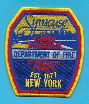 Syracuse Fire Department Patch ~ New York ~ Very Nice Artwork & Colors