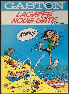 GASTON Tome 8 Lagaffe we spoils EO 1970 Good condition