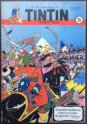 TINTIN Edition belgian issue n°35 du 31 august 1950 Mint