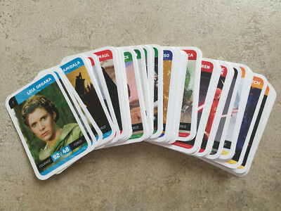 Lot Cartes Leclerc Star Wars Set complet 90 cartes