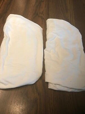 Bassinet fitted sheets lot of 2 - 100% Cotton White - Barely Used