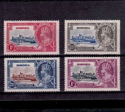 Dominica 1935 Complete Set Of King George V Silver Jubilee Stamps