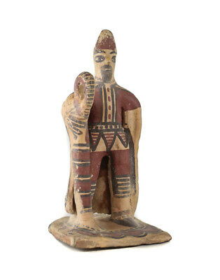 Boeotian? Terracotta Figure with Staff and cape - Greece,  Mid 6th Century BC?