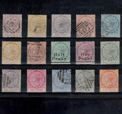 Dominica 1874-1886 Selection Of Mint & Used Queen Victoria Stamps (15)