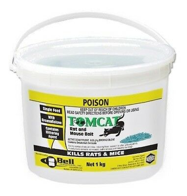 Tomcat  Rodenticide Mouse Rat Bait Pellets Green1kg  Poison