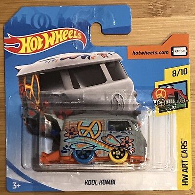 Hotwheels Kool Kombi Grey HW Art Cars 8/10 NEW Hot Wheels 2018 VW
