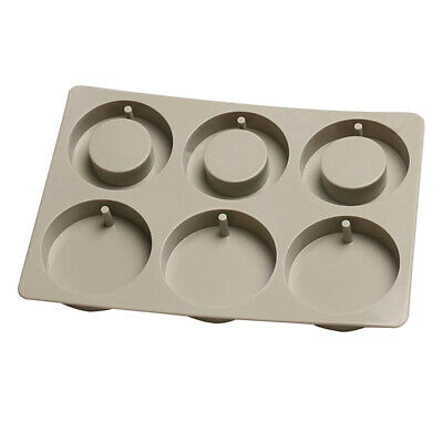 Silicone Aroma Dried Flowers Wax Tablets Mould DIY Candle Soap Mold 6-Cavity