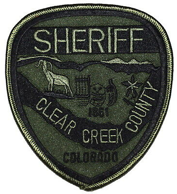 CLEAR CREEK COUNTY – SWAT - COLORADO CO Police Sheriff Patch SUBDUED ~