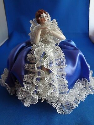 Antique Vintage Complete Half Doll w/Legs and Arms Away Pin Cushion