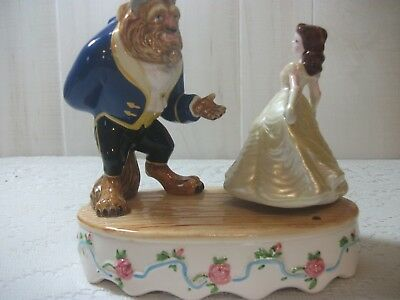 Disney vintage  Beauty & the Beast porcelain music box Schmid