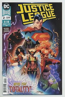 JUSTICE LEAGUE #2 DC comics NM 2018 Scott Snyder Jorge Jimenez BATMAN HAWKGIRL
