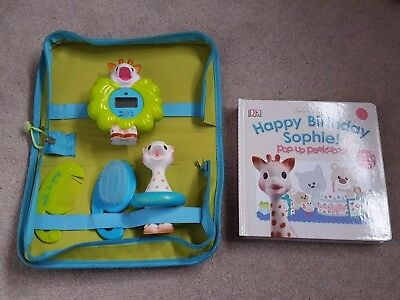 Sophie la Girafe Sophie the Giraffe Bath Set  Thermometer, Brush + Pop Up Book
