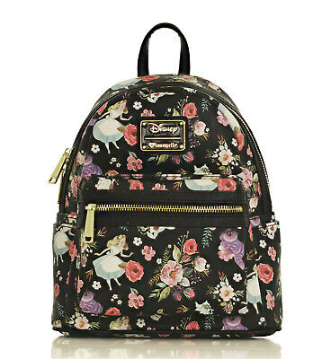 6f22d202f7 Loungefly X Disney Alice in Wonderland Character Floral Print Mini-Backpack