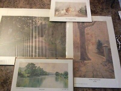Lot of 4 New Unframed Paul Sawyier Collector Prints