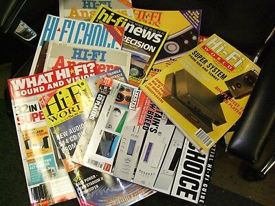 HiFi Magazines,  9  Assorted HiFi Titles / editions  £4.99. Collection Only.
