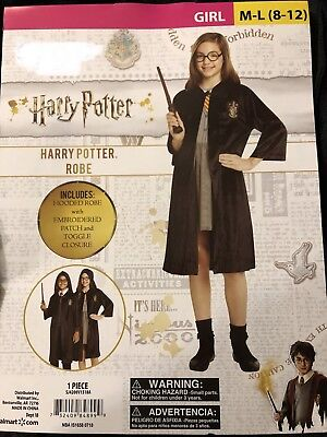 New Harry Potter or Hermione Robe, Gryffindor Halloween Costume, M-L 8-12