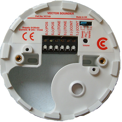 VECTOR SOUNDER BASE CREAM CRANFORD CONTROLS CC-VCT-03-C 506-002 8-35v FIRE ALARM