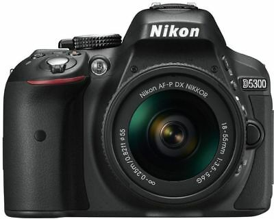 Nikon D5300 with AF-P 18-55mm Digital SLR Camera Kit