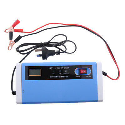 Automatic Electric Car Battery Charger 10A 12V 24V Intelligent Pulse LED
