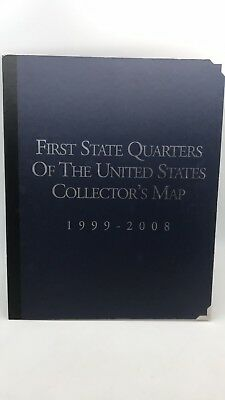 First State Quarters of The United States Collector's Map 1999-2008